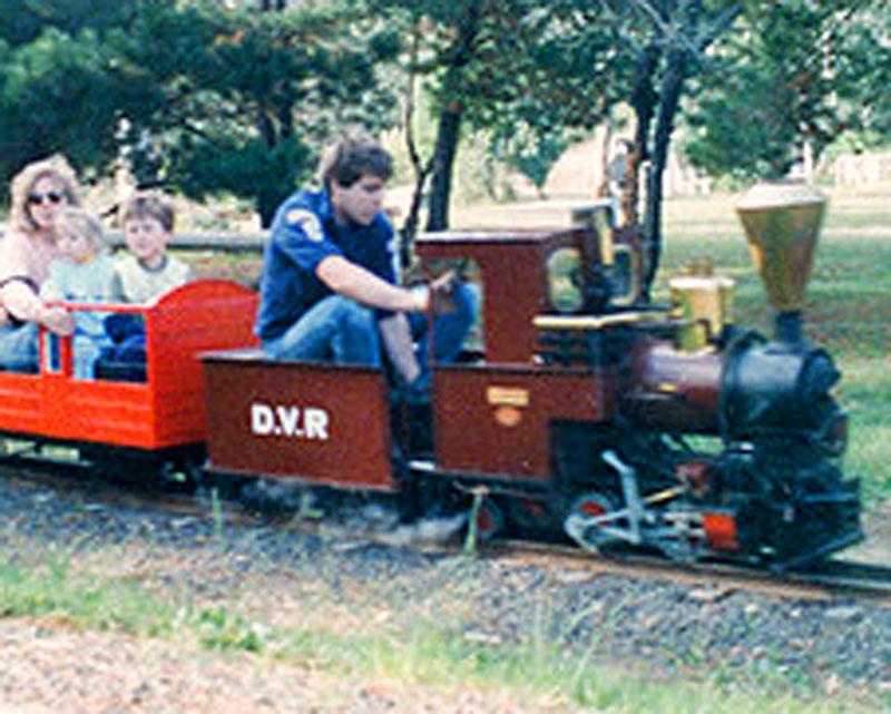 Diamond Valley Railway display Alistair Knox Park